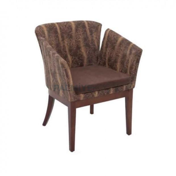 Kahve Kumaş Döşemeli Ahşap Boya Renkli Poliüretan Sandalye