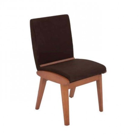 Brown Fabric Upholstered Polyurethane Cafe Chair - psa621
