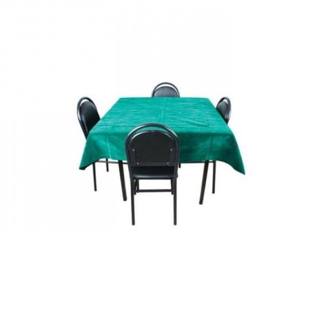 Siyah Derili Kahve Sandalyesi Kare Kahvehane Masası - khv548