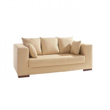 Bej Kumaş Döşemeli Modern Salon Koltuğu - knp7046