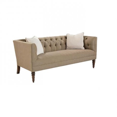 Modern Sofa with Beige Fabric - knp7003
