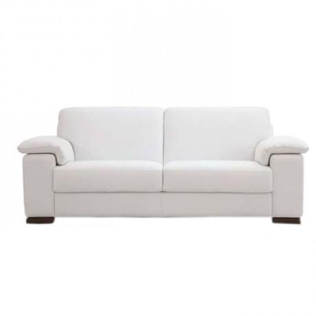 Beyaz Kumaş Döşemeli Kanepe - knp7045