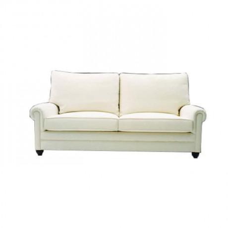 Beyaz Kumaş Döşemeli Otel Koltuğu - knp7047