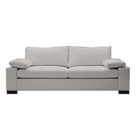 Modern Sofa with White Fabric - knp7043