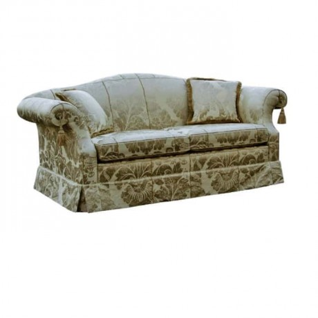 Classic Fabric Patterned Classic Couch - knp7028