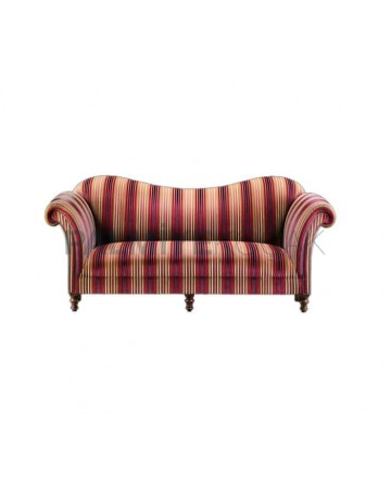 Patterned Fabric Upholstered Triple Armchair