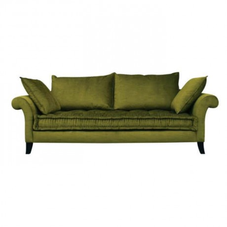 Peanut Green Fabric Upholstered Hotel Couch - knp7031