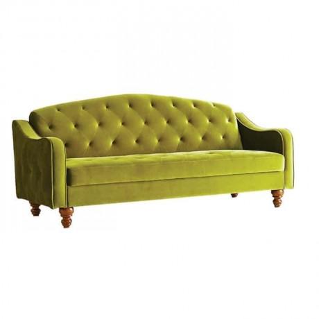 Peanut Green Fabric Sofa - knp6984