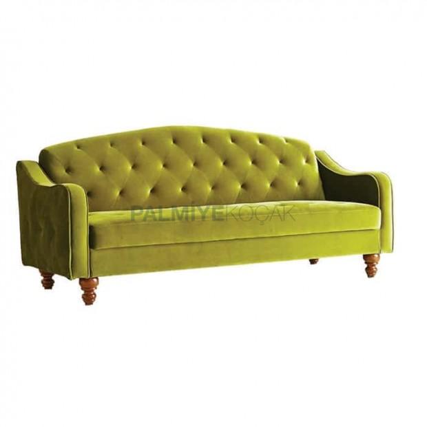 Peanut Green Fabric Sofa
