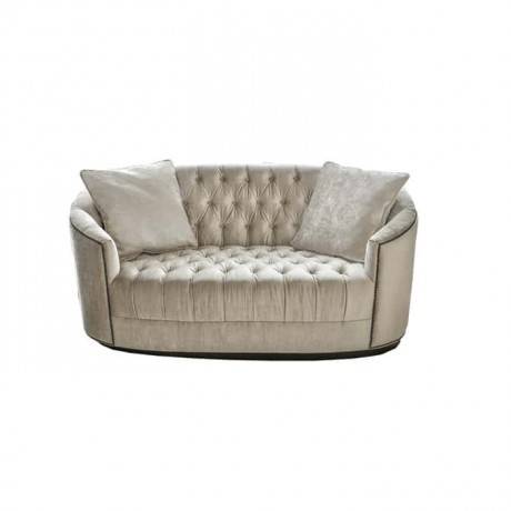 Gray Fabric Upholstered Couch Sofa - knp7001
