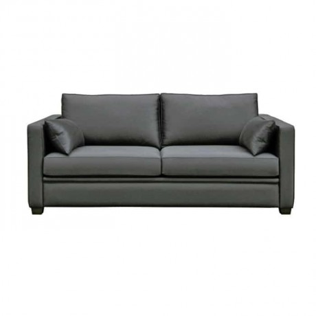 Gray Fabric Hotel Room Couch - knp7032