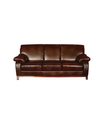 Brown Leather Modern Sofa