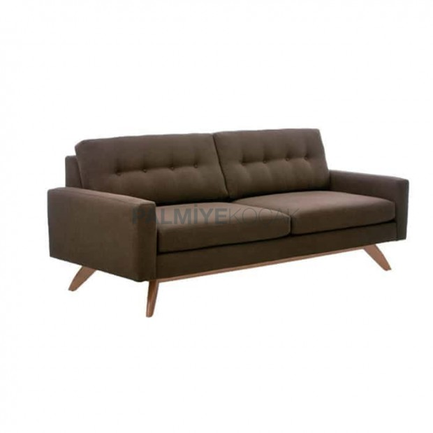 Brown Fabric Upholstered Armchair