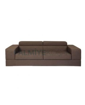 Modern Fabric Sofa with Brown Fabric
