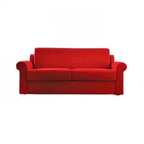 Kırmızı Kumaş Döşemeli İkili Koltuk - knp7018