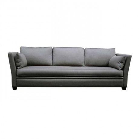 Dark Gray Fabric Upholstered Couch - knp7025