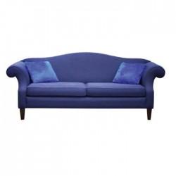 Blue Fabric Upholstered Hotel Lobby Armchair