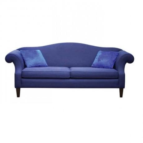 Mavi Kumaş Döşemeli Otel Lobisi Koltuğu - knp7027