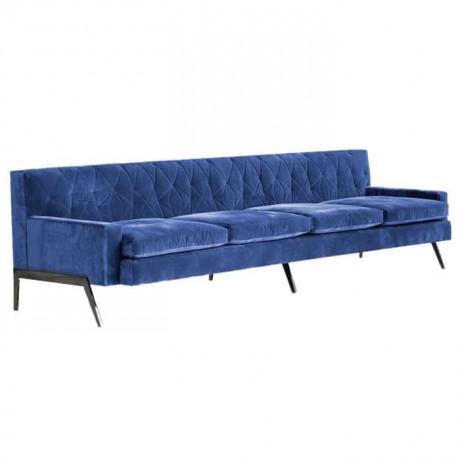 Mavi Kumaşlı Otel Lobi Kanepesi - np6980