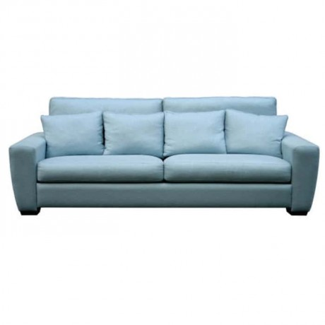 Blue Fabric Salon Couch - knp7024