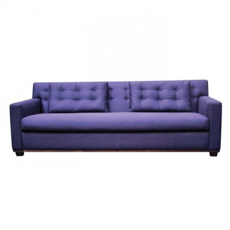 Purple Fabric Covered Triple Armchair - knp7026