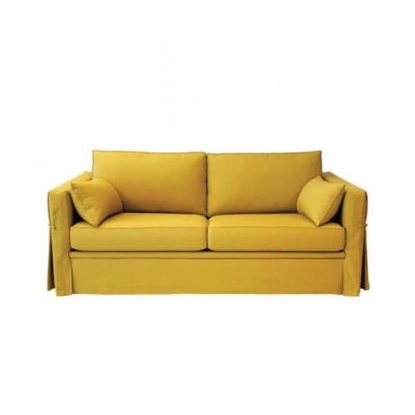 Sarı Kumaş Döşemeli Otel Odası Kanepesi - knp7030
