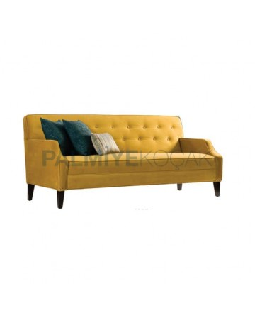 Couch Sofa with Yellow Fabric