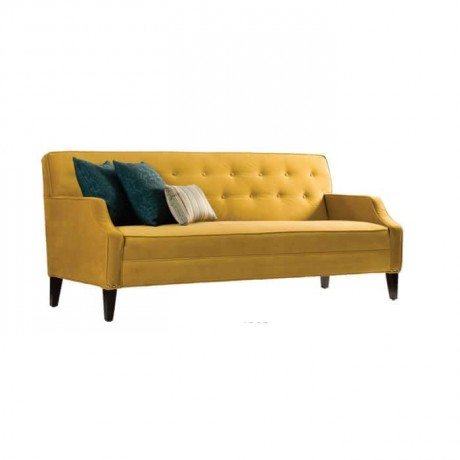 Couch Sofa with Yellow Fabric - knp111