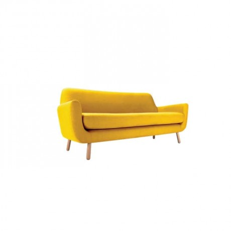 Yellow Fabric Modern Triple Armchair - knp7039
