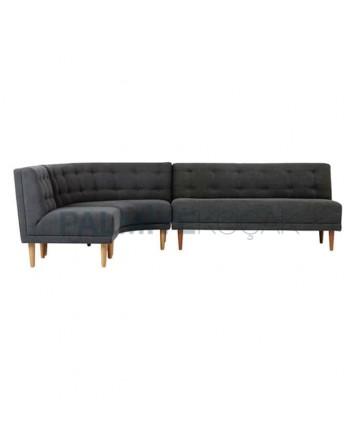 Corner Sofa with Black Upholstered