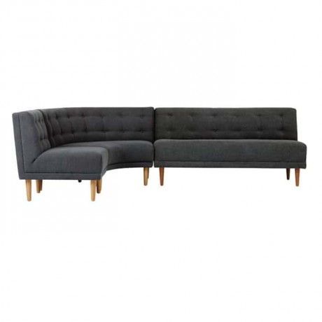 Corner Sofa with Black Upholstered - knp7005