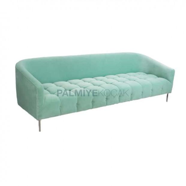Turquoise Fabric Upholstered Sofa