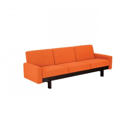 Modern Hotel Seat with Orange Fabric Upholstered - knp7040