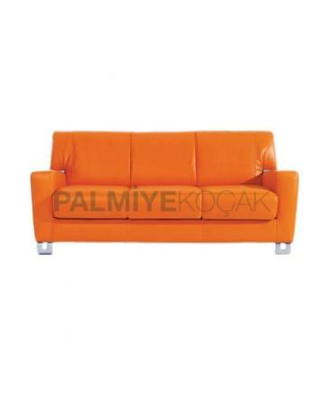Orange Triple Armchair
