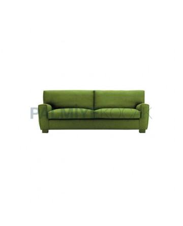 Green Fabric Upholstered Restaurant Armchair