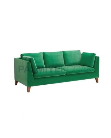 Modern Fabric Sofa with Green Fabric