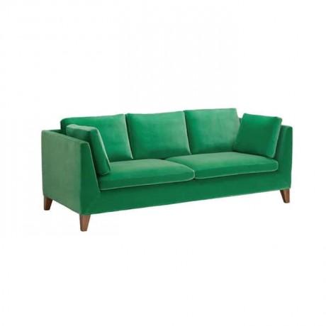Yeşil Kumaşlı Modern Üçlü Koltuk - knp7048