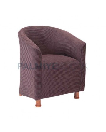 Closed Toe Fabric Upholstered Armchair