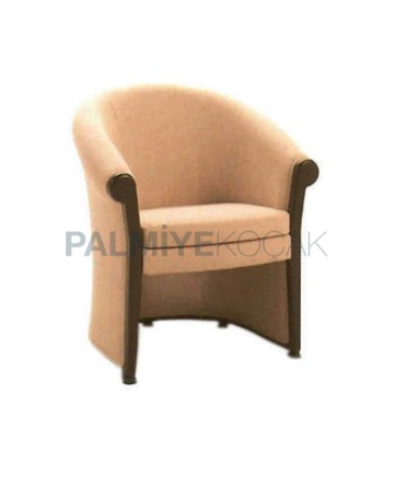 Closed Robe Fabric Rustic Armchair