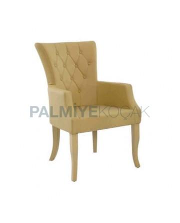Avant-garde Polyurethane Quilted Arm Chair