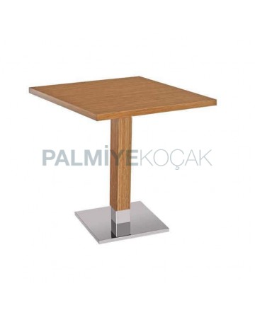 Cafe Bambu Mdflam Stainless Leg Square Table