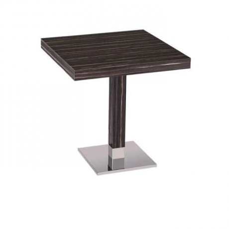 Ebony Upholstered Painted Cafe Table - mtm4019