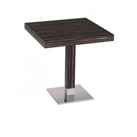 Abanoz Kaplamalı Boyalı Kafe Masası - mtm4019
