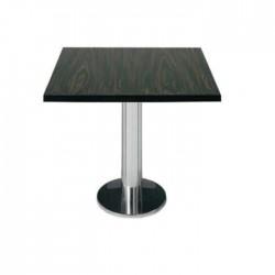 Ebony Table Top Stainless Leg Restaurant Table