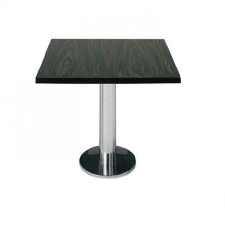 Ebony Table Top Stainless Leg Restaurant Table - mtm4017