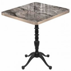 Lion Leg Veined Marble Look Decorative Uv Lacquered Mdf Lam Kare Cafe