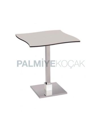 Compact Laminat Tablalı Paslanmaz Metal Ayaklı Kafe Masası
