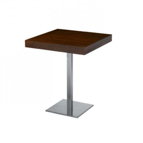 Antique Polished Stainless Steel Leg Table - mtm4029