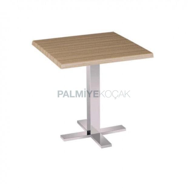 Square Table Top Metal Leg Restaurant Table