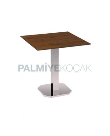 Cafe Table with Chrome Legs